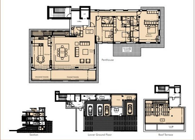 Penthouse 3 bedroom Complex with Communal Pool